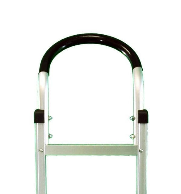 U handle with sleeve for aluminum hand truck