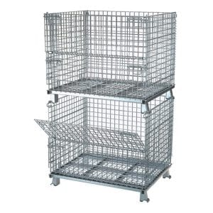 Wb 404836 C4 Mighty Lift 40 X 48 X 36 Wire Mesh Container Houston Tx